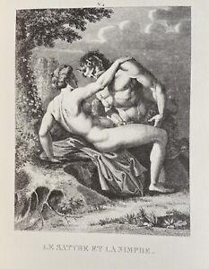 Agostino Carracci Erotico Pene atto vagina Satiro Faun Ninfa mitologia antica