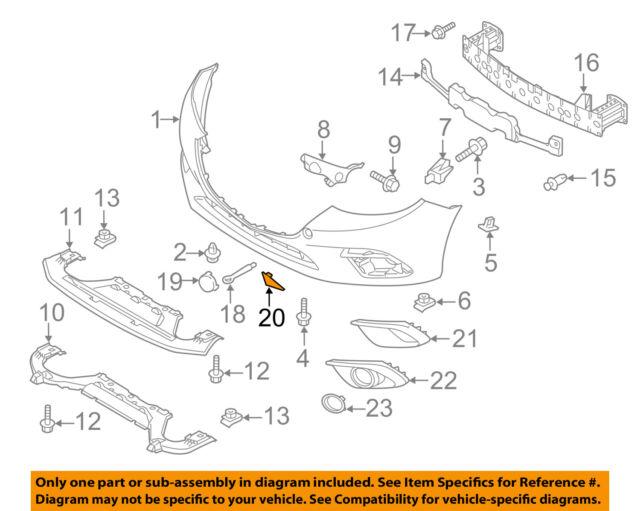 OEM NEW 14-16 Mazda 3 Hatchback Left Front Bumper Jack Plug Hole Cover BJS750102