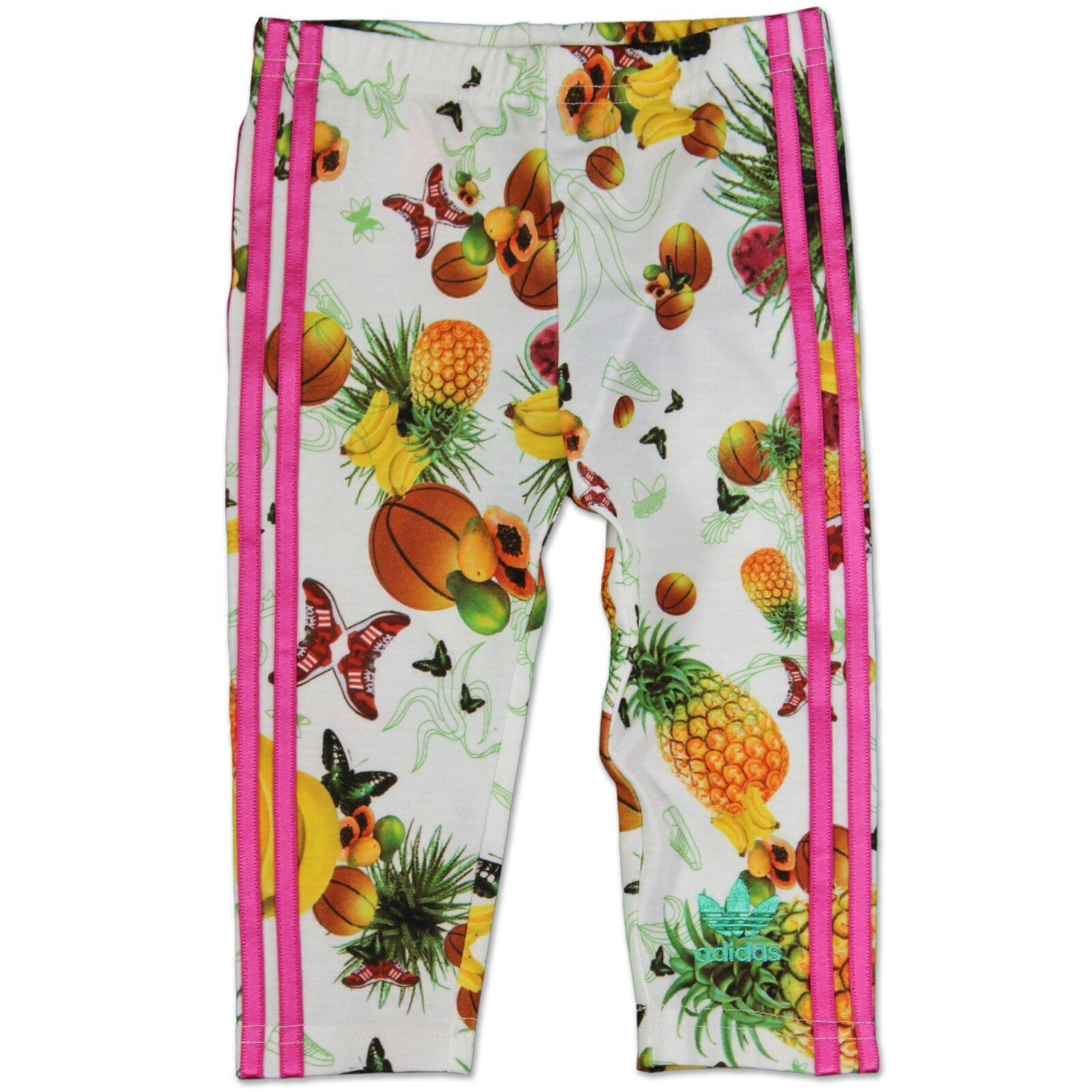 Adidas Originals Fille Fruit Fruits Pantalons Bébé Enfants Leggings Blanc Rose 68
