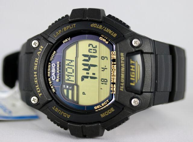 Casio WS-220-9AV Tough SOLAR Watch 120-Lap Memory Stopwatch Sports Brand New