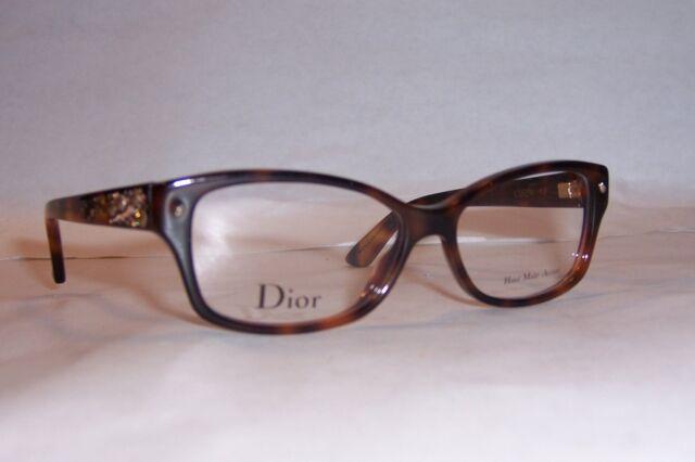 new christian dior eyeglasses cd 3259 05l havana 52mm rx authentic