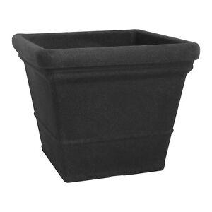 pflanzk bel eckig 60 x 60 cm schwarz granit blumenk bel pflanztopf 32 6260 10 ebay. Black Bedroom Furniture Sets. Home Design Ideas