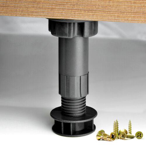 1xVerstellbar Küchenfuße 100mm-150mm Sockelfüße Möbelfuße Küche SchrankfüßeFüße
