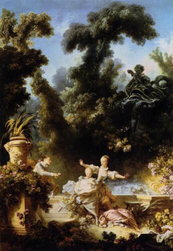 The Progress of Love The Pursuit by Jean-Honore Fragonard Giclee Canvas Print