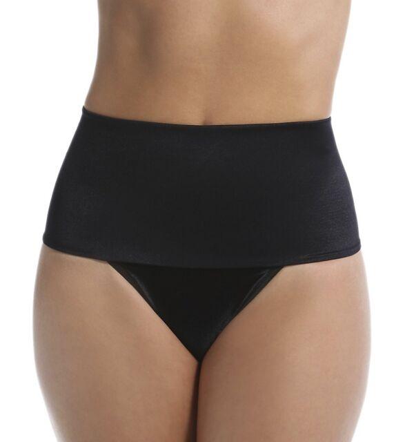 c89574cb65b69 Rago Shapewear Soft Control Wide Band Black Thong Shaper Size 34 2XL