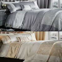Luxury Elegant Luxor Jacquard Gold Silver Bedspread Bed Quilt Throw Over Cover