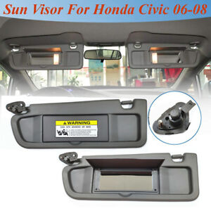 For-2006-2008-Honda-Civic-Driver-Side-Left-Atlas-Gray-Sun-Visor-W-O-Light-NH598L