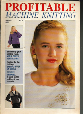 Profitable Machine Knitting Jan 1990 Magazine UK Patterns ...