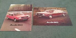 1976-1977-Model-AUDI-80-SALOON-ESTATE-2-x-UK-BROCHURE-8-PAGE-FOLDER-20-PAGE