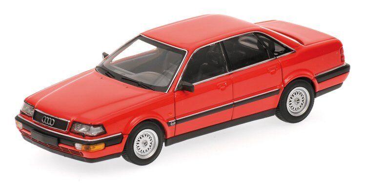AUDI v8 1988 rouge 1 43 MODEL 400016001 MINICHAMPS