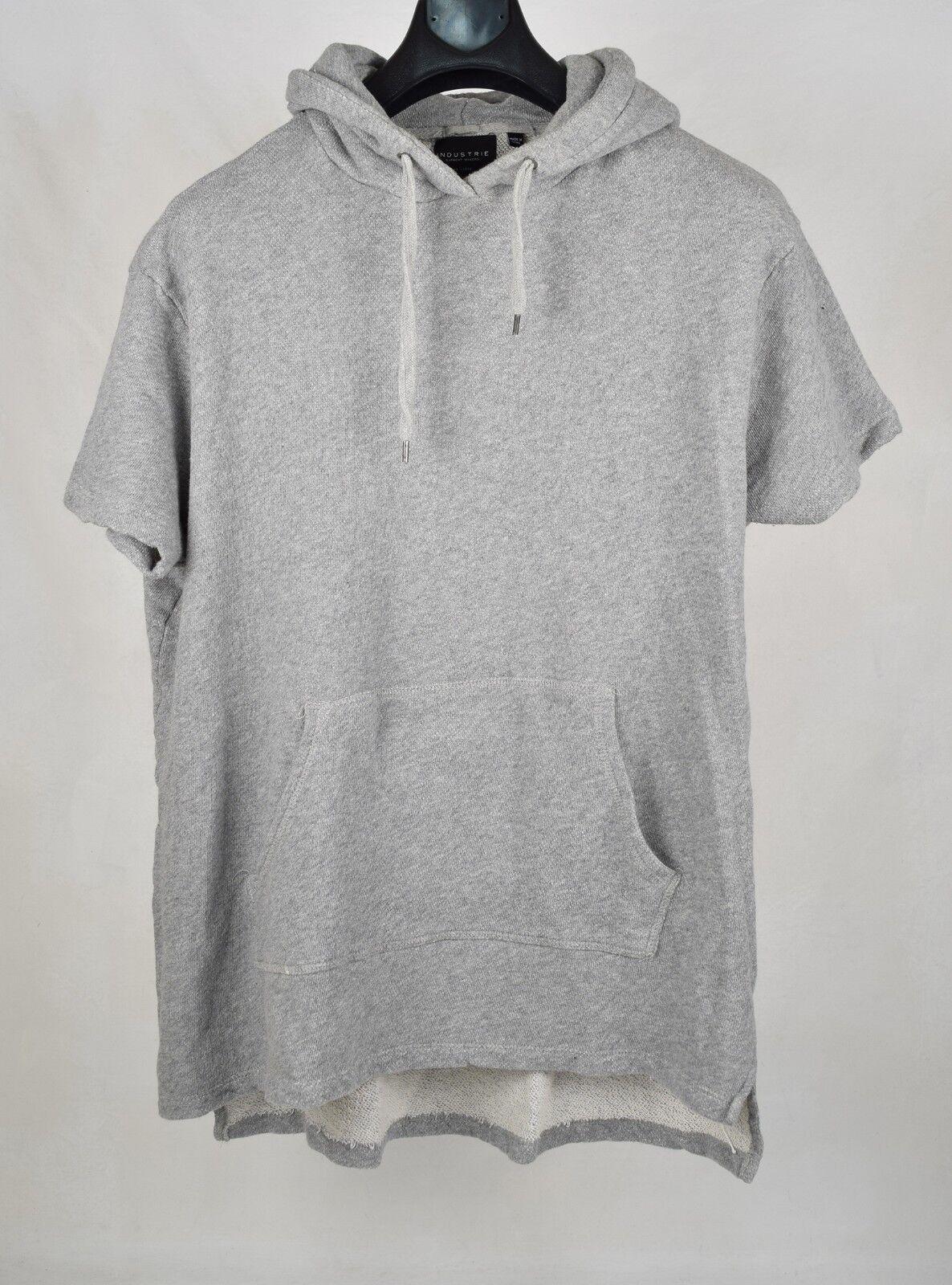Industrie Hoodie Fleece Pullover Cotton Grau SS 2XL