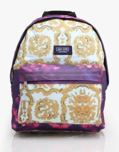 À Fleurs Backpack Pourpres Grand Dos Or Hype Neuf École Et Sac Design A8qxd5w5