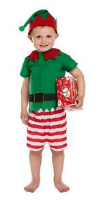 Toddlers Santa Christmas Xmas Little Helper Fancy Dress Up Costume Suit Outfit
