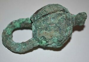 Ancient-African-Excavated-Large-Tribal-Copper-Metal-Ring-Currency-Djenne-Mali