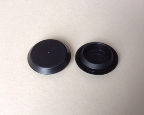 """100Pack 3//4/"""" 0.75 Inch Flush Mount Black Plastic Body and Sheet Metal Hole Plugs"""