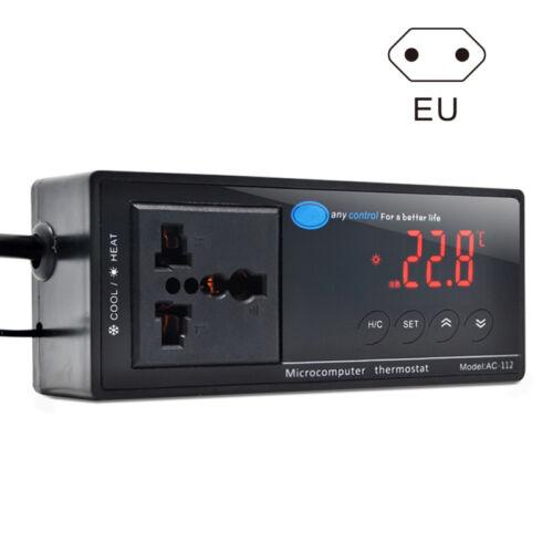 Digital LED Temperaturregler Thermostat für Aquarium Reptil AC-112 Neu