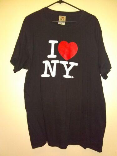 MENS I LOVE NY SHORT SLEEVE T-SHIRT BLACK