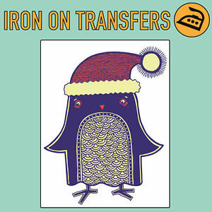 Christmas Penguin Iron On Transfer For T Shirt Tee Top ...