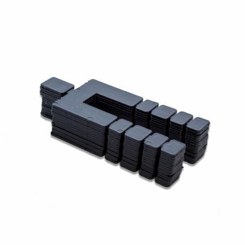 """Pack of 448 pcs. 4-1//16/"""" x 1-7//8/"""" x 1//16/"""" Size Black Plastic Shim"""