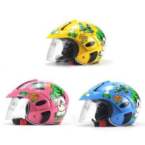 Uk Children Open Face Half Helmet With Sun Visor Goggles For Motorcycle Scooter Ebay