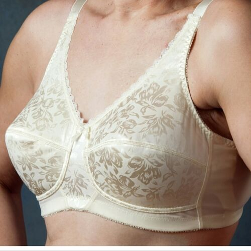 Nearly Me Post Mastectomy Bra Style #640 Jacquard Bra Cream /& Black Many Sizes