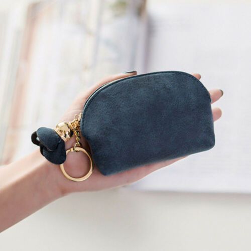 Ladies Key Coin Holder Case Small Canvas Zip Wallet Pouch Stylish Mini Bag XS