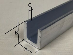 Details about Aluminium Extruded U Channel Section Profile Length 2000 mm -  Free Cut Service