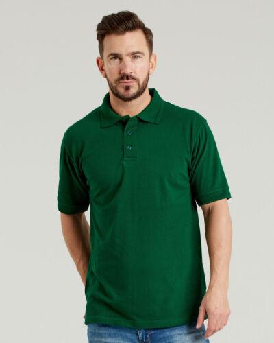 Ultimate 50//50 Heavyweight Piqué Polo Shirt 240gsm Work Wear Mens Top UCC004