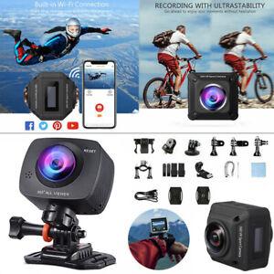 360° Wi-Fi Full HD Action Camera Sport Camcorder DVR Helmet Remote Waterproof VR
