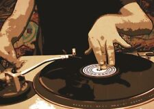 SKULL MUSIC DJ TRANCE A3 POSTER PRINT GZ1246