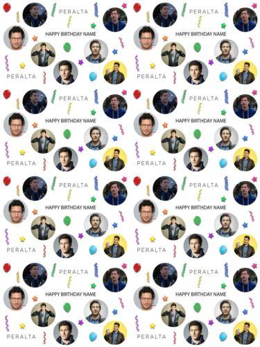 Jake Peralta Personnalisé Anniversaire Papier Cadeau Ajouter Nom choisir Background