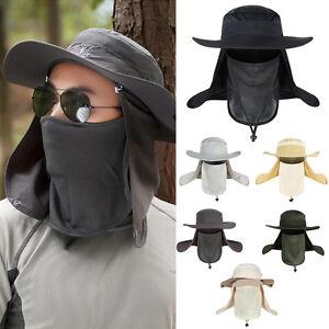 f224507f2ec Men Women Outdoor Sport Fishing Hiking Hat UV Protection Face Neck ...