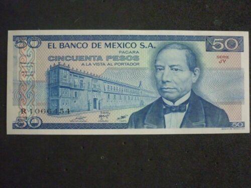 MEXICO 50 PESOS BANKNOTE 1978//79 CRISP UNCIRCULATED