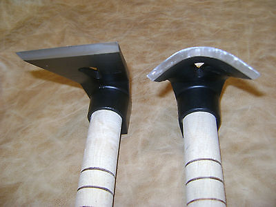 STRIKING LOT OF TWO FORGED SCULPTING,WOOD CARVING AND A WOODWORKING ADZE!
