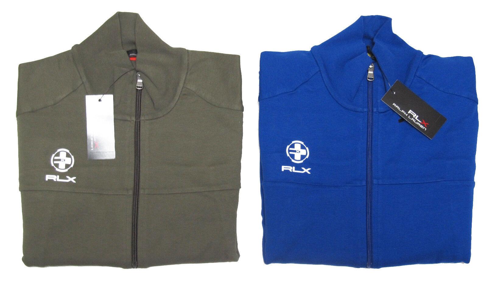 Polo Ralph Lauren RLX Mens Grün Blau Mockneck Track Zip Jersey Jacket Coat New