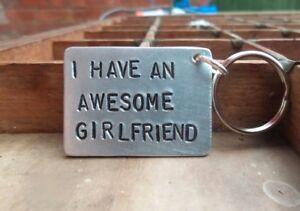 Image Is Loading AWESOME GIRLFRIEND KEYRING Gifts For Him Boyfriend FUNNY
