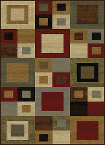 Squares Area Rug Home Decor