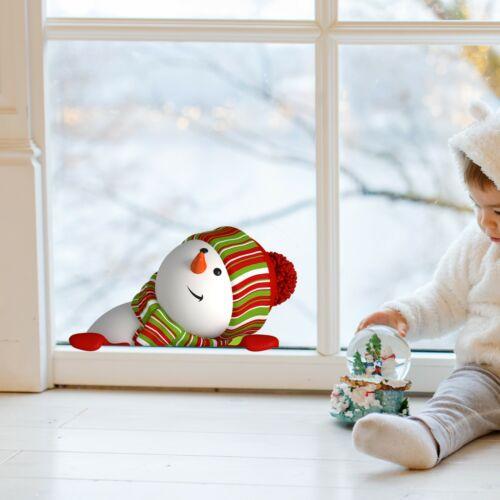 Snowman in Window Peeking Kids Bedroom Girls Wall Decal Sticker Gift Christmas