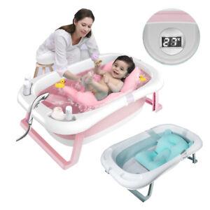 Baignoire Bebe Pliable Pour Tout Petits Bassin Douche Avec Thermometre Coussin Ebay