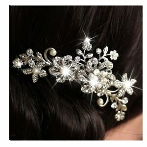 Fashion-Bridal-Flower-Hair-Comb-Wedding-Crystal-Pearl-Clip-Slide-Tiara-Headband