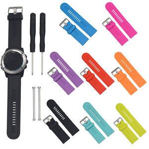 Silicone Souple Bracelet Remplacement De Montre+Kit D/'outils Pour Garmin Fenix 3
