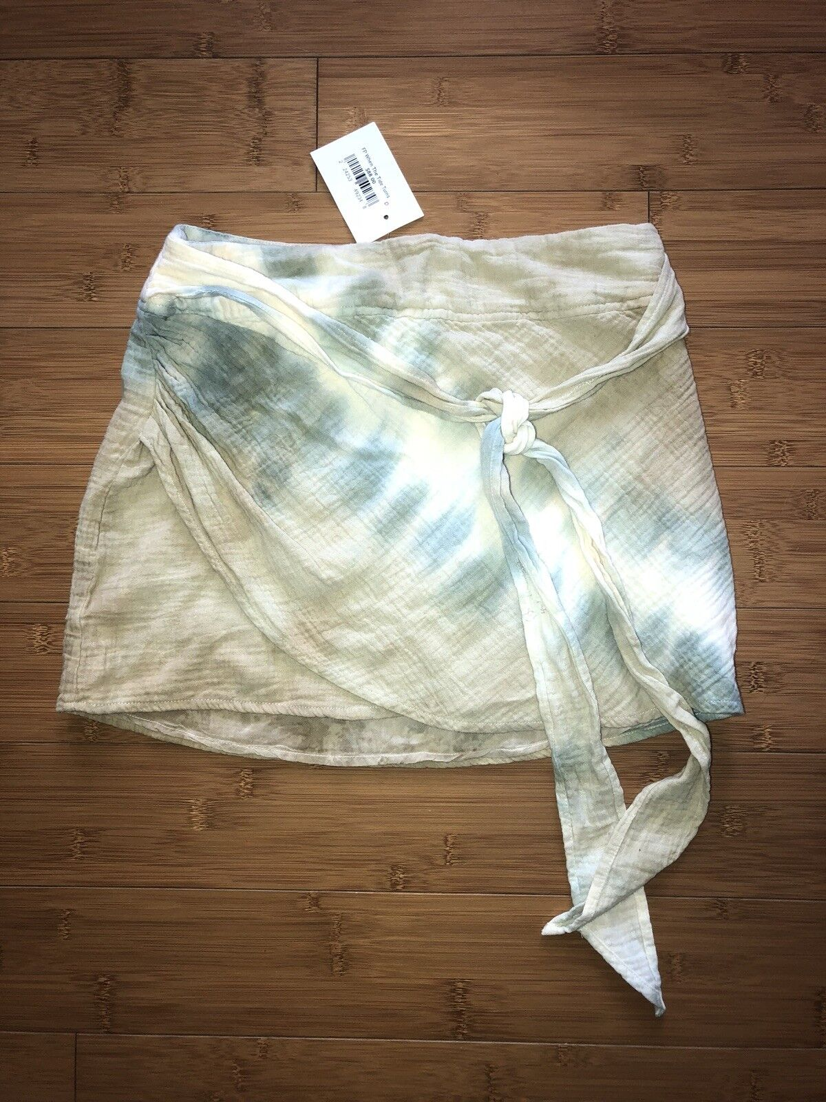 Free People 4839 Womens Green Tie-Dye Quilted Micro-Mini A-Line Skirt 0
