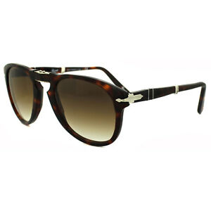 Kleidung & Accessoires Persol Sunglasses 0714 24/51 Havana Brown Gradient Folding Steve Mcqueen 52mm