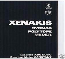 LP IANNIS XENAKIS SYRMOS POLYTOPE MEDEA (ERATO)