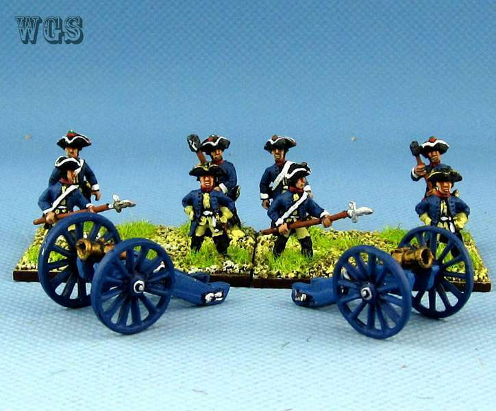 15mm SYW Seven Years War WGS painted Prussian Artillery and 12lb Cannon PC1