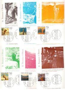 Maxi cards set 1977 Maximum card   Vatican St Francis of Assisi 6 pcs