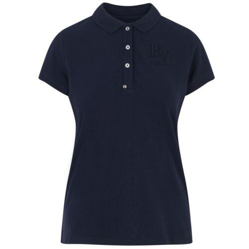 a corte Camicia Elegante Pique Polo HV Country Riiding Gaby Ladies maniche blu scuro Horse 0qP441zw
