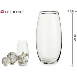 Glass Vase Tall Domed Crystal Decoration Flower Clear Home Decor Ebay