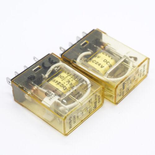 RH1B-U DC24V Intermediate Relay 10A 24VDC 5 Pins x 2pcs