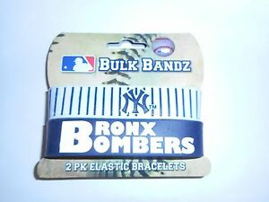 FOREVER-COLLECTIBLE-BULK-BANDZ-NEW-YORK-YANKEES-PK-OF-2-SEE-VARIATIONS-FOR-LOTS
